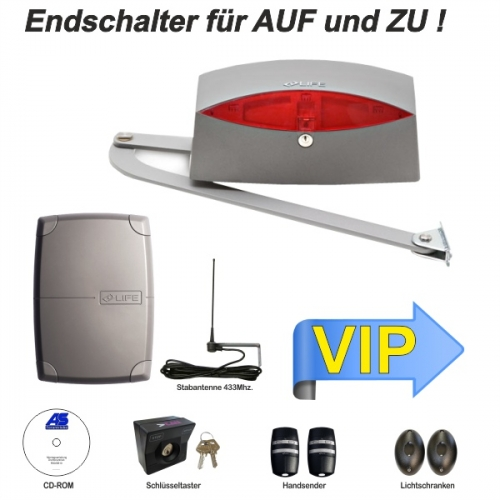 AS Eigenmarke Drehtorantrieb SINUO 230V. Gelekarmantrieb selbsthemmend. VIP-Set 250-300m Reichweite !