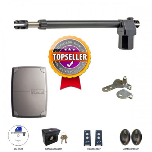 AS Eigenmarke Drehtorantrieb VS2 1-flügelig Premium Torantriebe Set. 2 Handsender, Lichtschranke, Schlüsseltaster