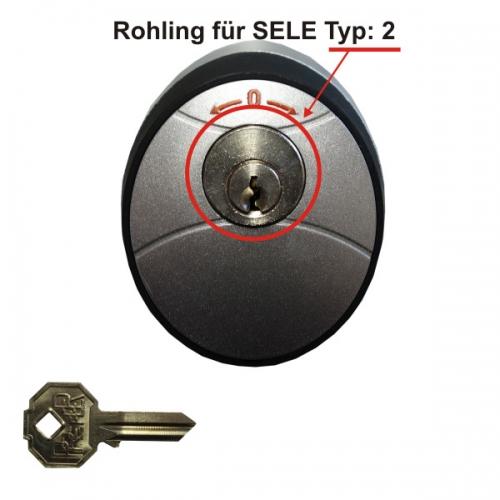 AS Torantriebe Schlüsselrohling zu Schlüsseltaster SELE Typ:2