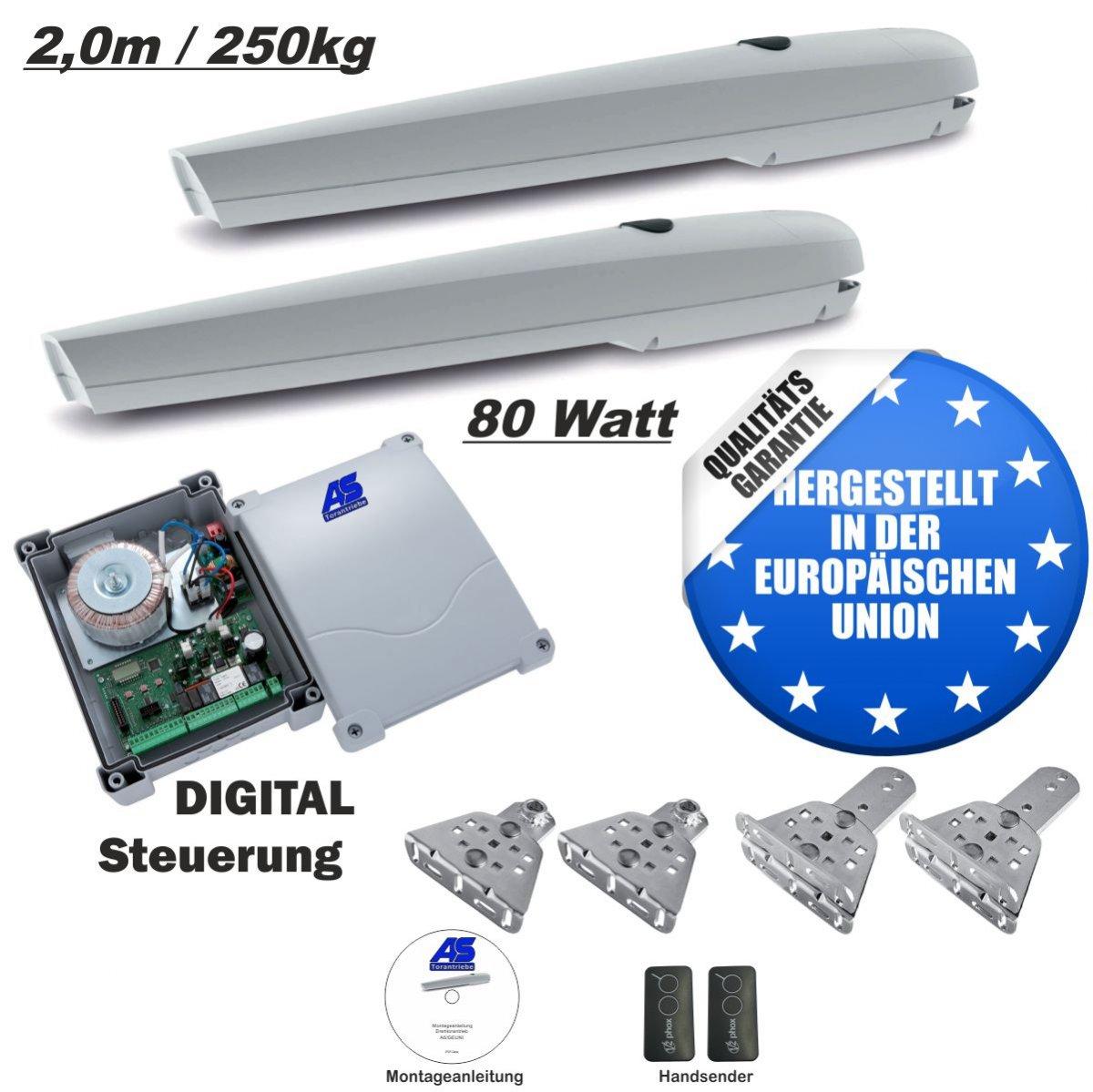 Lichtschranke LED-Blink Drehtorantrieb VS2 1-flügelig Set 24V mit 2 Handsender